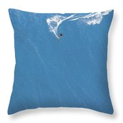 Power Turn Throw Pillow