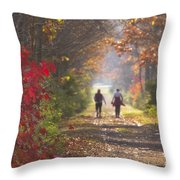 Power Walkers Throw Pillow