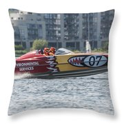 Powerboat 3 Throw Pillow