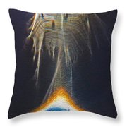 Powered By Light Throw Pillow