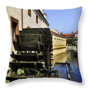 Powered By Water Throw Pillow