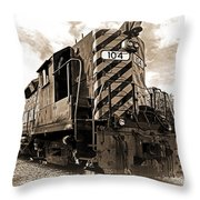 Powerful In Sepia Throw Pillow