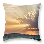 Powerful Sunbeams Throw Pillow