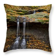 Powerful Trickle Throw Pillow