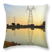 Powerline And Pylons Throw Pillow