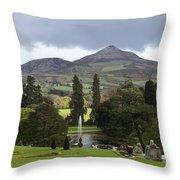 Lake And Garden Throw Pillow