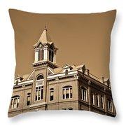Powhantan Court House Sepia 2 Throw Pillow