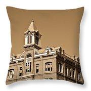 Powhatan Court House Sepia 5 Throw Pillow