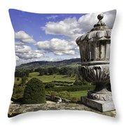 Powis Castle Garden Urn Throw Pillow