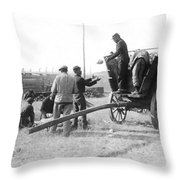 Pows Unload Cabbages For Lunch Throw Pillow