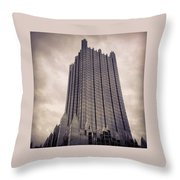 Downtown Castle Throw Pillow