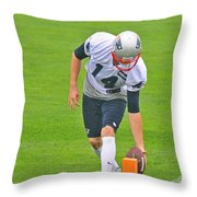 Practice At The Goal Line Throw Pillow