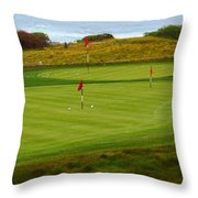 Practice Green At Spanish Bay Detail Throw Pillow