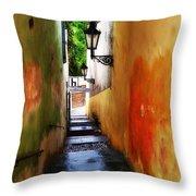 Prague - Street Throw Pillow