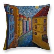 Prague A La Vangogh Throw Pillow