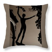 Prague Castle Statue Throw Pillow