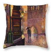 Prague Charles Bridge 01 Throw Pillow