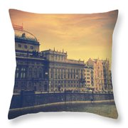 Prague Days Throw Pillow by Taylan Apukovska