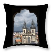 Prague From Town Hall Tower Throw Pillow