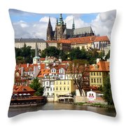 Prague Skyline Throw Pillow