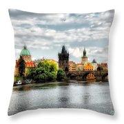 Prague Panorame Throw Pillow