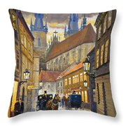 Prague Old Street Stupartska Throw Pillow