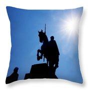 Prague. St. Venceslav Monument Throw Pillow
