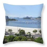 Botafogo Beach Throw Pillow