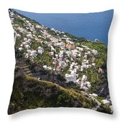 Praiano Village Throw Pillow