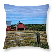 Prairie Barn And Pasture Throw Pillow