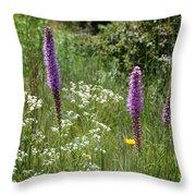 Prairie Blossoms Throw Pillow