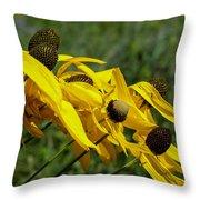 Prairie Flowers In Wind Throw Pillow