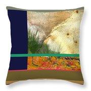 Prairie Grasses Amid The Rocks Throw Pillow
