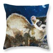 Prairie Night Throw Pillow