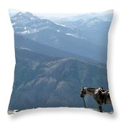 Prairie Reef View With Chief Throw Pillow