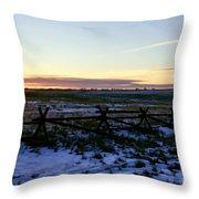 Prairie Sunrise Throw Pillow