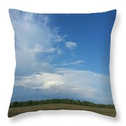 Prairie Thunder Throw Pillow