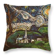 Praise To The Light Throw Pillow