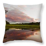 Pratt Cove Sunset Throw Pillow