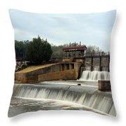 Prattville Dam Prattville Alabama Throw Pillow