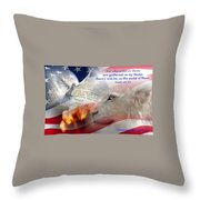 Pray For Our Nation Throw Pillow
