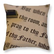 Pray To Thy Father Throw Pillow