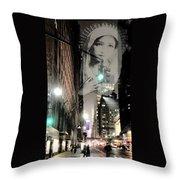 Prayer At 42nd Street Throw Pillow