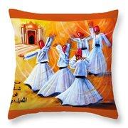 Prayer Circles Throw Pillow