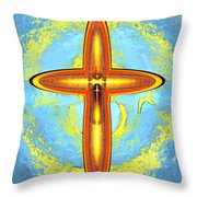 Prayer Cross For Brenda Lee Hager Morgan 8 Throw Pillow