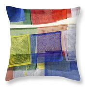 Prayer Flags Throw Pillow
