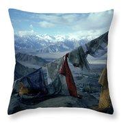 Prayer Flags Leh Ladakh Throw Pillow