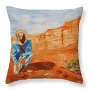 Prayer For Earth Mother Throw Pillow