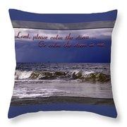 Prayer In Storm Throw Pillow