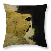 Prayer Lion Throw Pillow